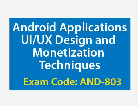 Android course exam certificate training development certified